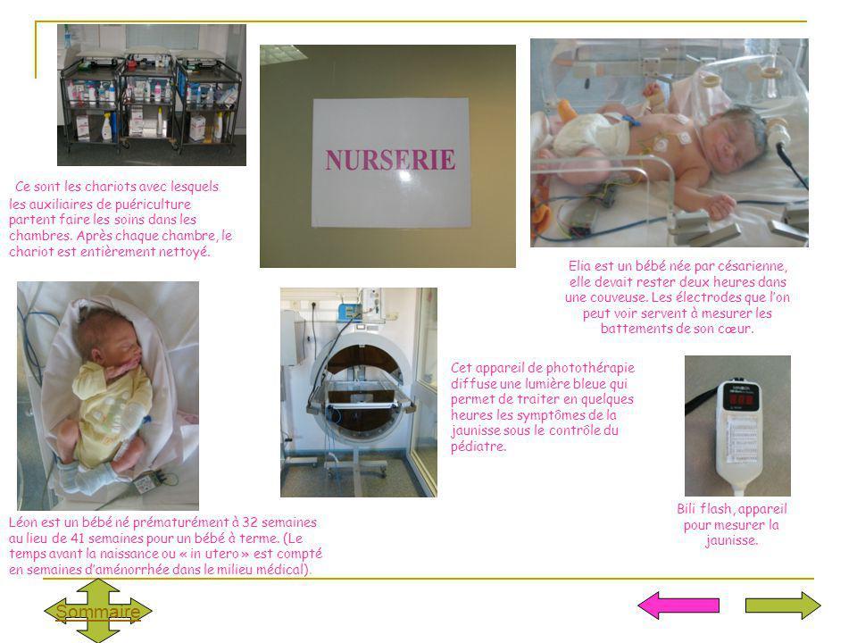 Elia est un bébé née par césarienne, elle devait rester deux heures dans une couveuse. Les électrodes que lon peut voir servent à mesurer les battemen