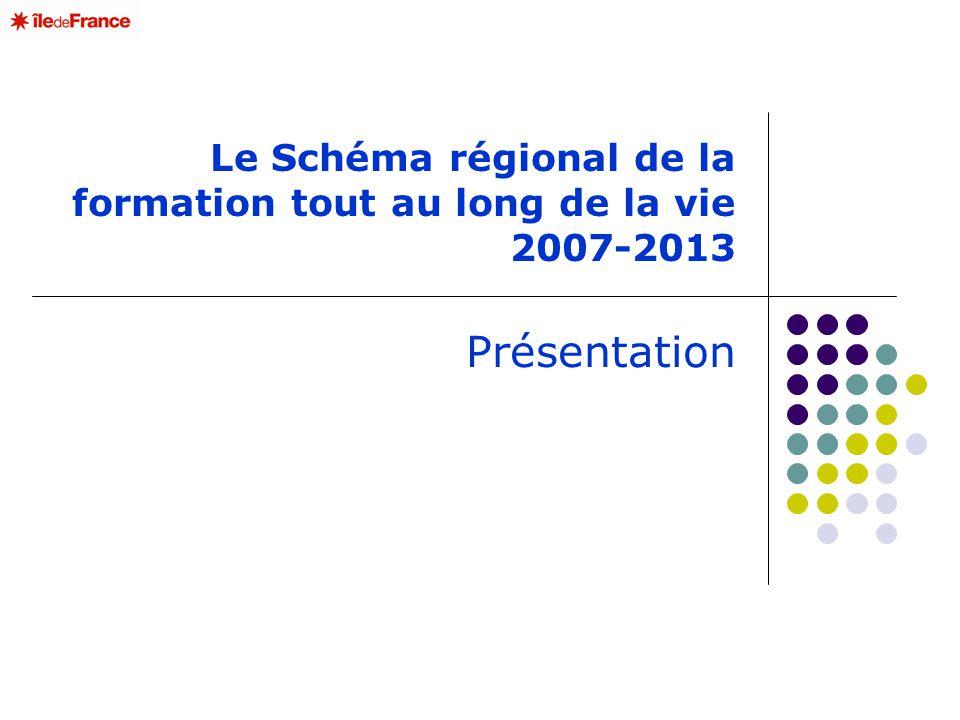 Le Schéma régional de la formation tout au long de la vie 2007-2013 Présentation