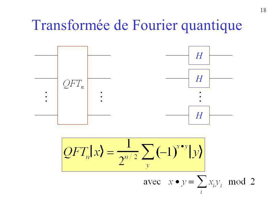 18 Transformée de Fourier quantique H H H