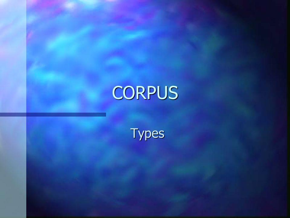 II. CORPUS SPECIALISES.