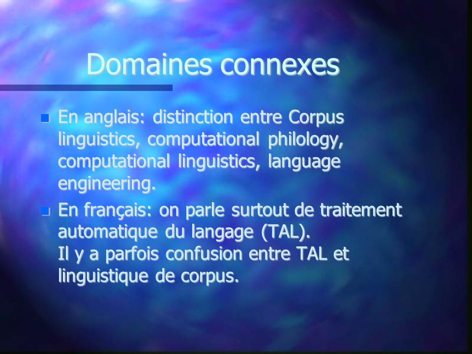 Experts II Francis 1992: a collection of texts assumed to be representative of a given language, dialect, or other subset of language, to be used for linguistic analysis