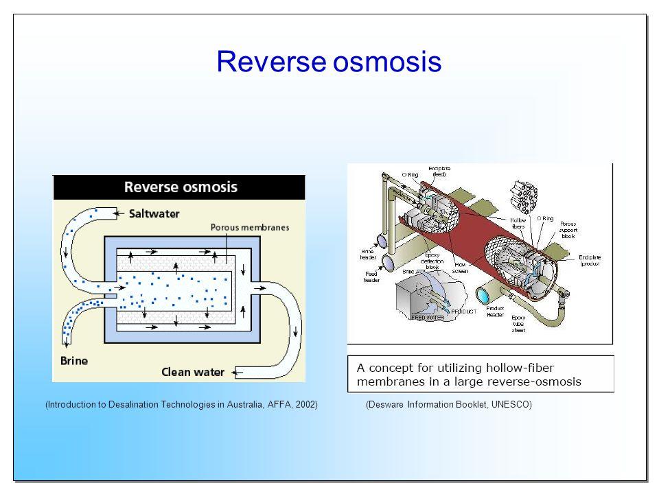 Multi-stage flash distillation (Desware Information Booklet, UNESCO)