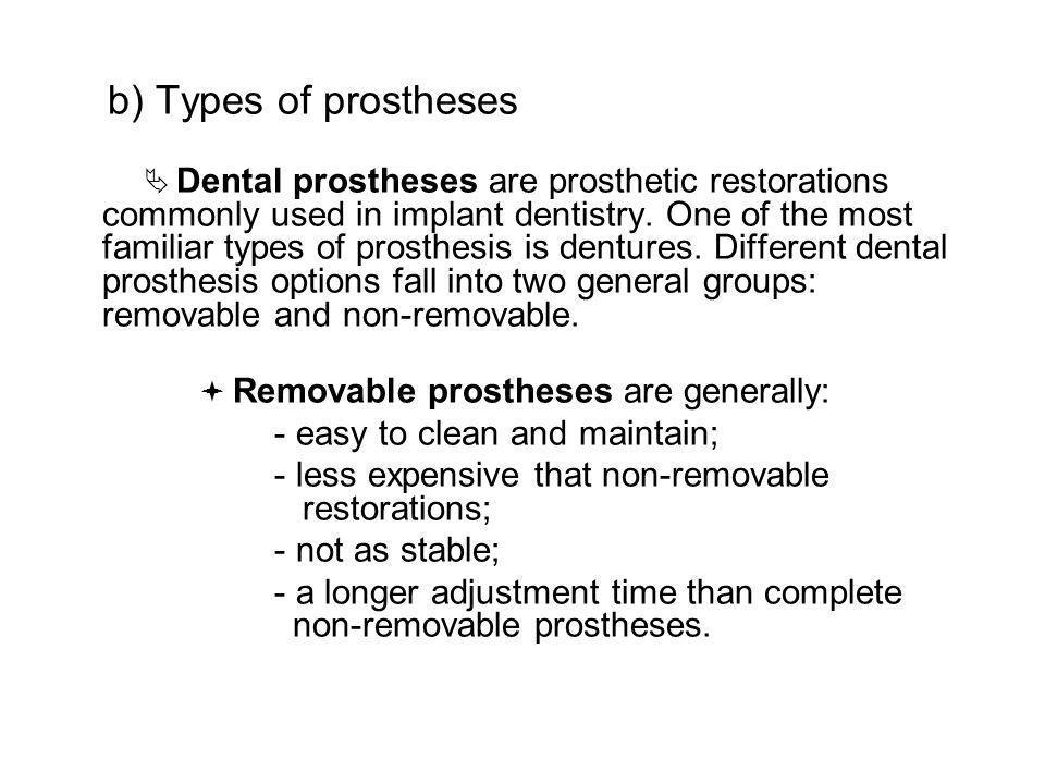 Maxillofacial prosthesis implant retained MP tooth retained MP implant / tissue retained MP endosseous dental implant subperiosteal dental implant transosseous dental implant
