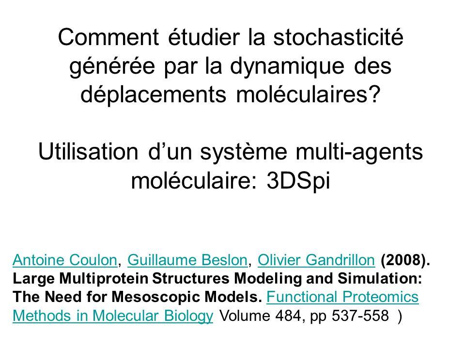Comment étudier la stochasticité générée par la dynamique des déplacements moléculaires.