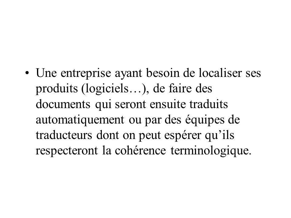 Une entreprise ayant entrepris une structuration sémantique de ses documents concernant la fabrication ou la maintenance dans des domaines « sensibles