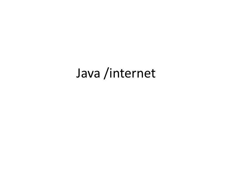 Type du contenu public static void typeObjetURL(String st) { try { URL u = new URL(st); try { Object o = u.getContent(); System.out.println( L objet est un + o.getClass().getName()); } catch (IOException ex) {System.err.println(ex);} } catch (MalformedURLException ex) { System.err.println(st + URL malformée ); } http://www.liafa.jussieu.fr L objet est un sun.net.www.protocol.http.HttpURLConnection$HttpInputStream H.