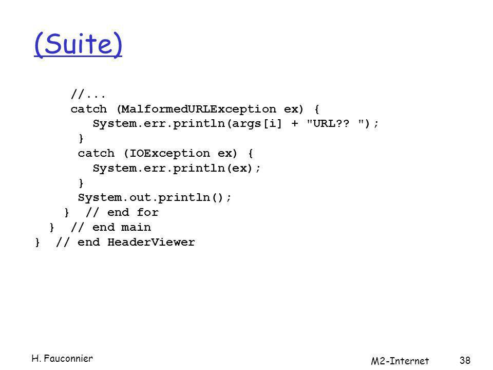 (Suite) //... catch (MalformedURLException ex) { System.err.println(args[i] +