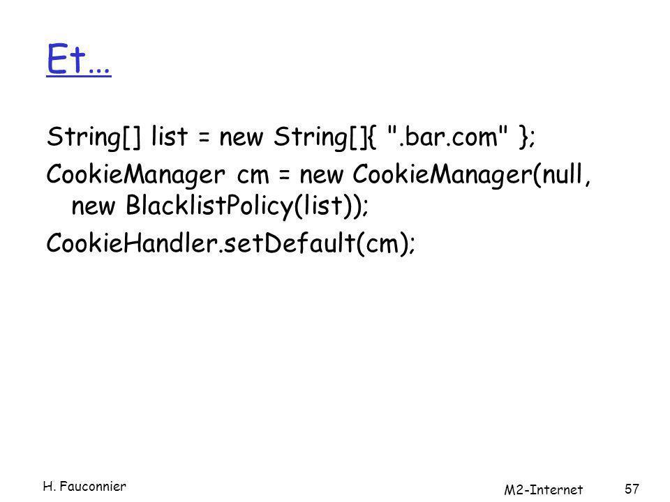 Et… String[] list = new String[]{