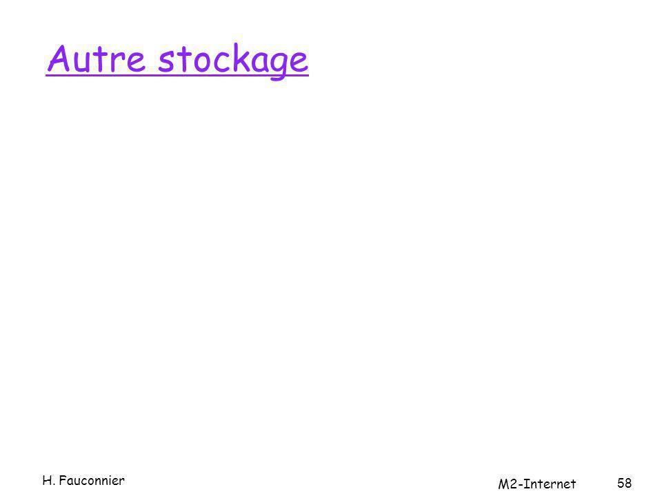 Autre stockage H. Fauconnier M2-Internet 58