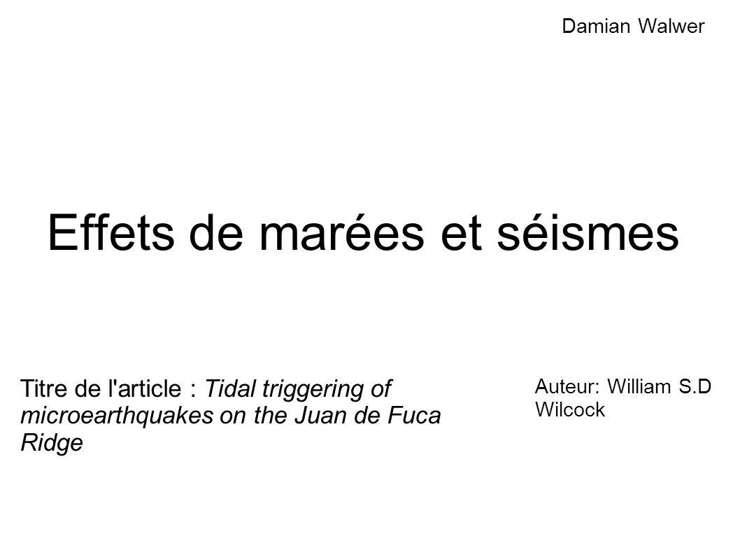 Les effets de marées La Lune, n attire pas avec autant d intensité les différents points de la Terre.