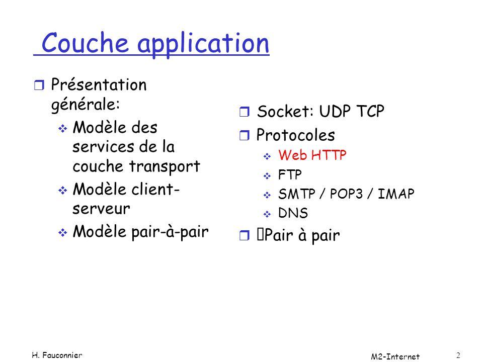 apache r Pour pouvoir tester les exemples on utilisera apache logiciel libre disponible sur la plupart des plateformes Le serveur le plus fréquent Prise en charge de nombreux modules, (perl php, python, ruby…) cgi Serveurs virtuels M2-Internet 1-33 H.