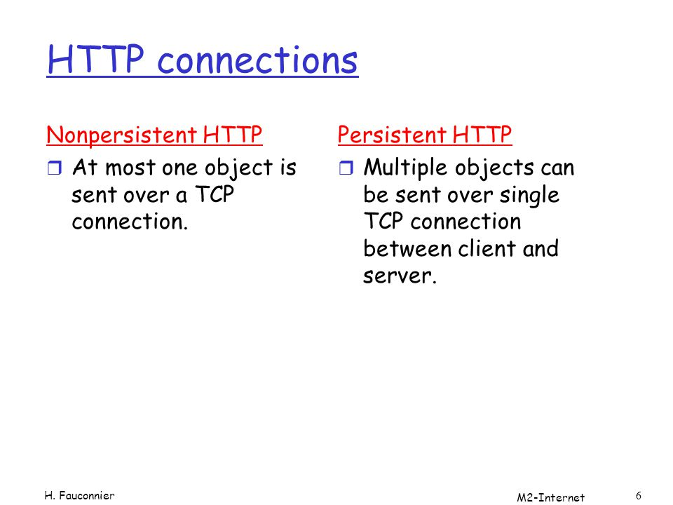 M2-Internet 7 Nonpersistent HTTP Suppose user enters URL www.someSchool.edu/someDepartment/home.index 1a.