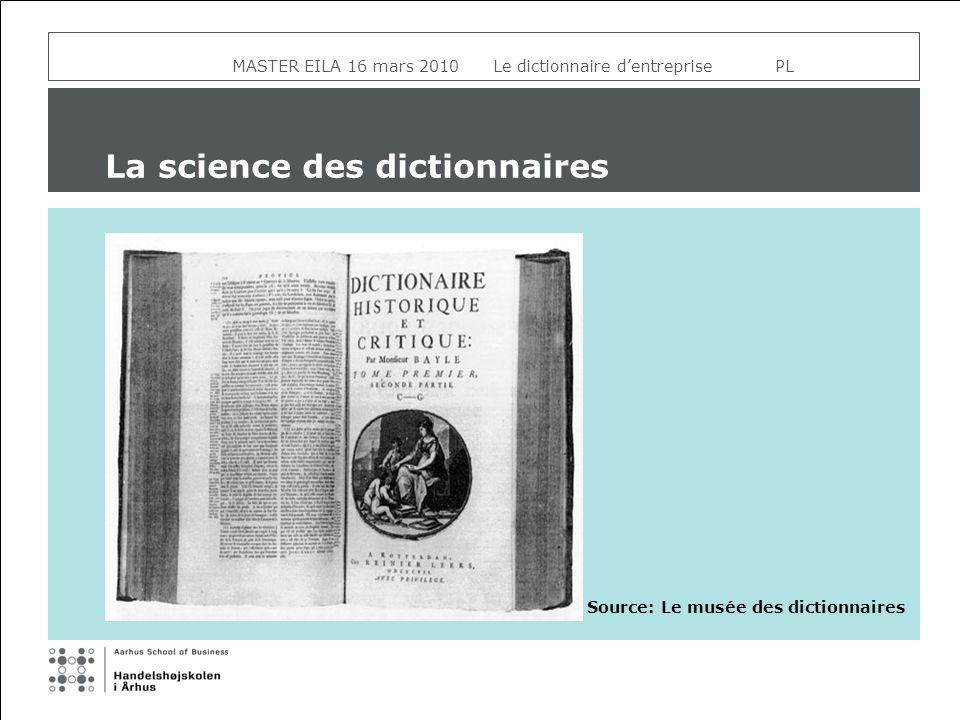 La science des dictionnaires Source: Le musée des dictionnaires