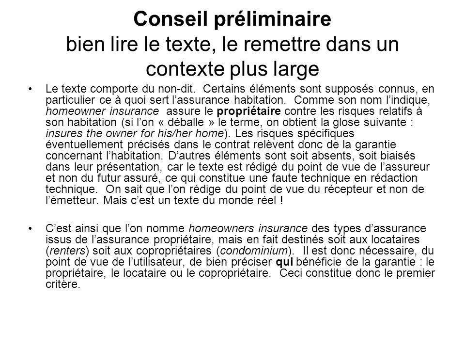 Conseil préliminaire bien lire le texte, le remettre dans un contexte plus large Le texte comporte du non-dit.