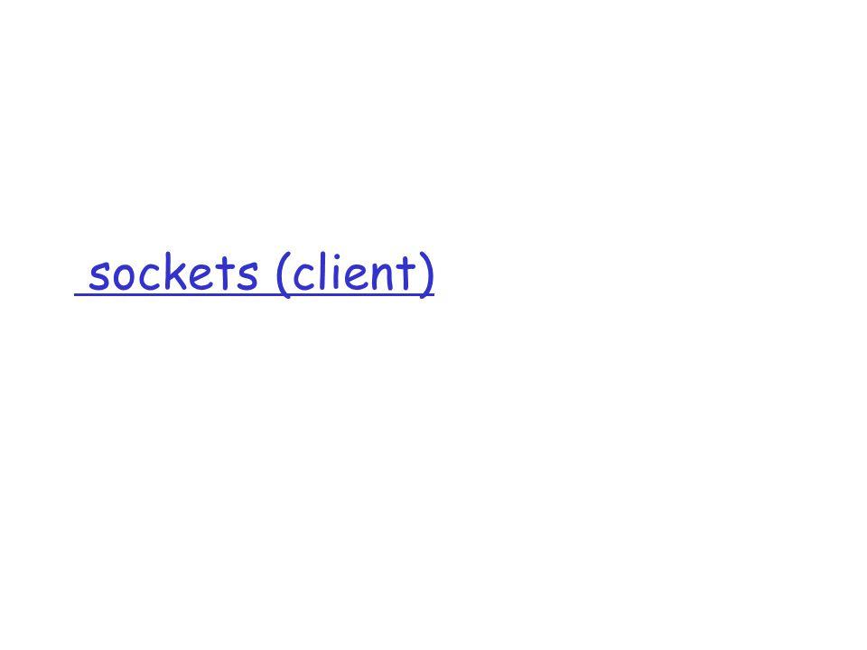 sockets (client)