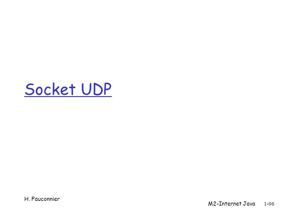 Socket UDP H. Fauconnier 1-96 M2-Internet Java