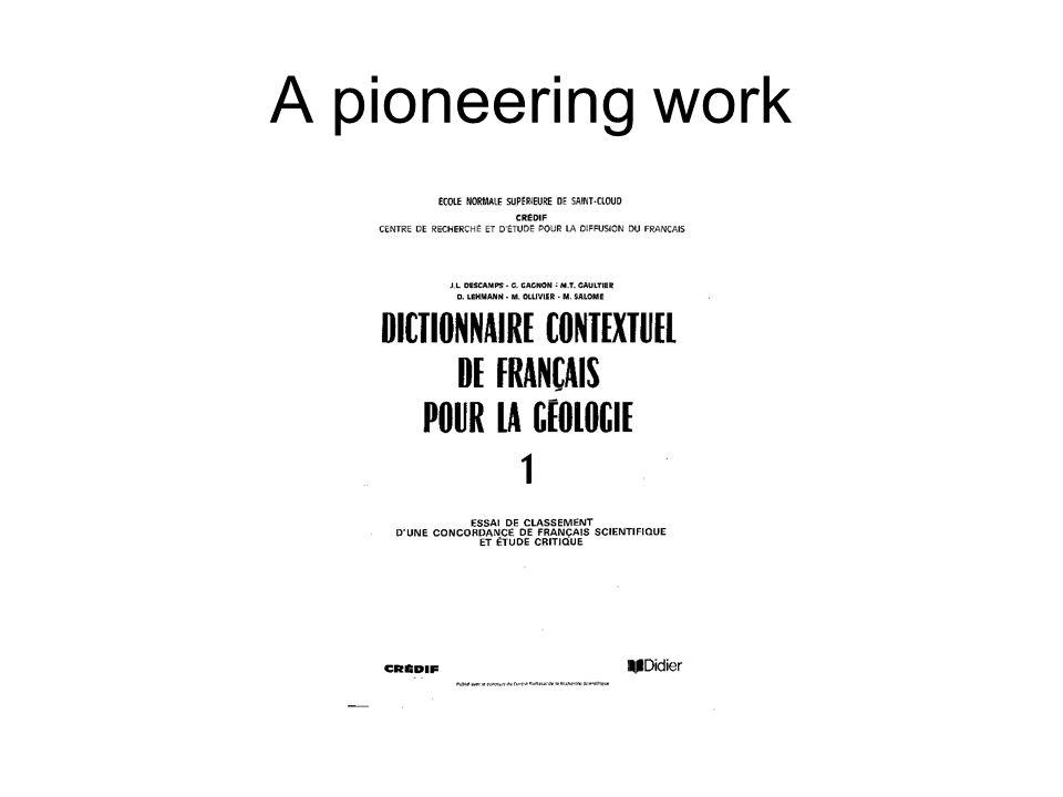 A pioneering work
