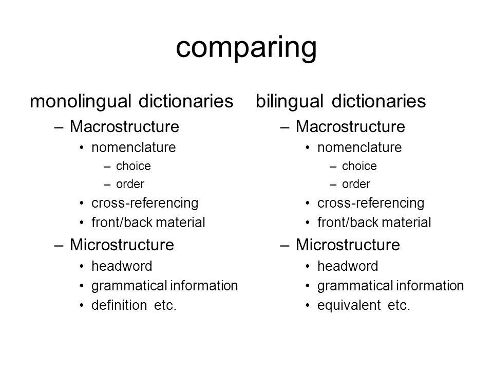 model terminological dictionary