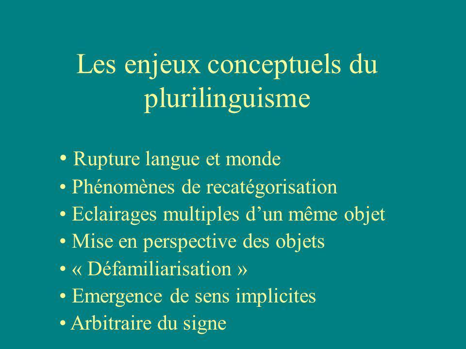 Les enjeux perceptuels de la pluralité de systèmes Perceptions spécifiques dun même événement