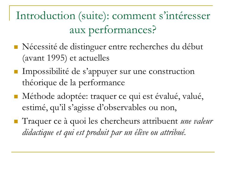 Les enquêtes ou les tests, des situations dévaluation des performances..