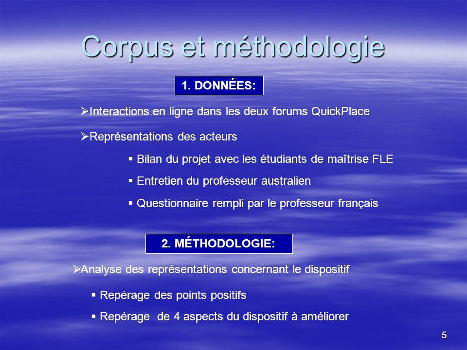 5 Corpus et méthodologie 1.