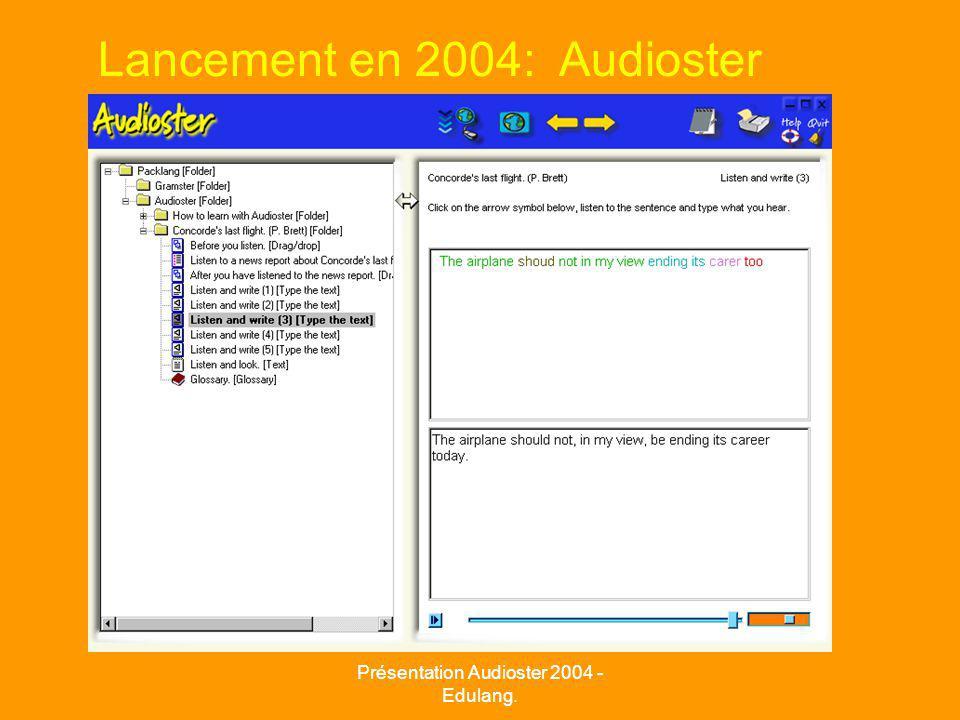 Lancement en 2004: Audioster