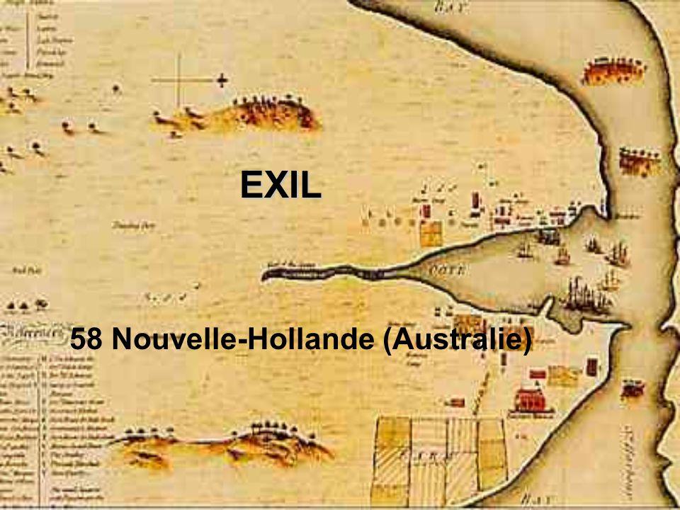 EXIL 58 Nouvelle-Hollande (Australie)