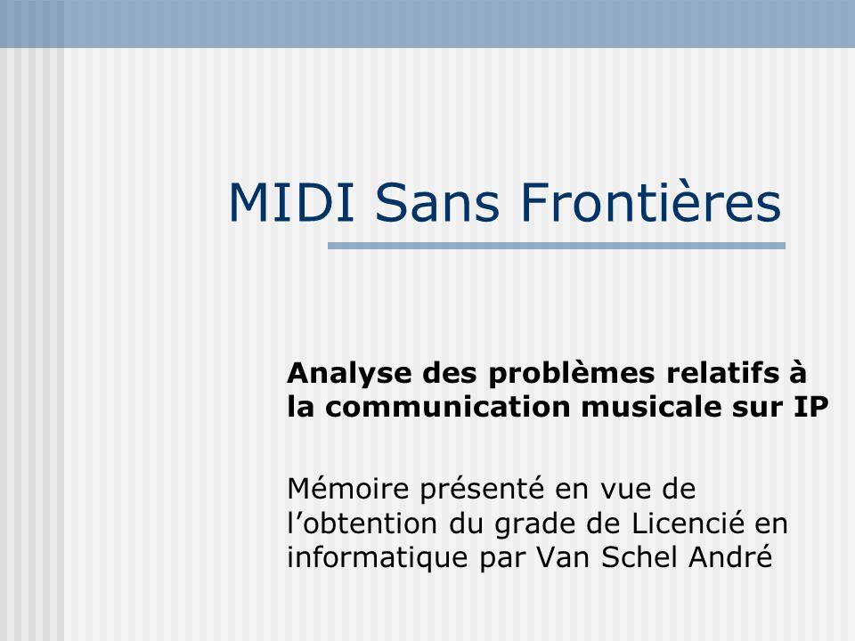 MIDI Sans Frontières Analyse des problèmes relatifs à la communication musicale sur IP Mémoire présenté en vue de lobtention du grade de Licencié en i