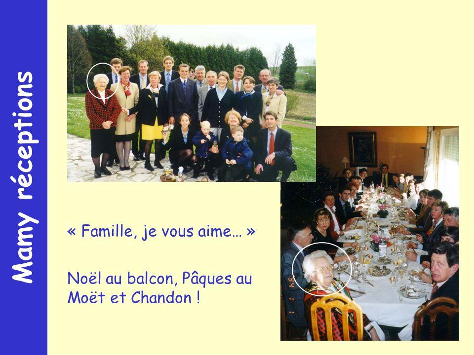 Mamy réceptions « Famille, je vous aime… » Noël au balcon, Pâques au Moët et Chandon !