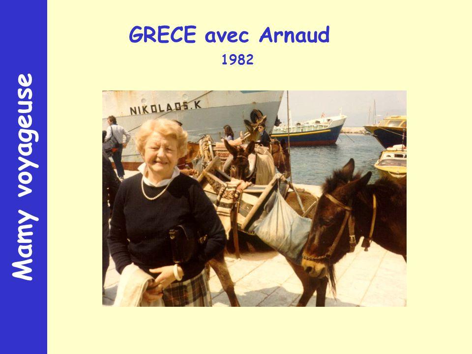 Mamy voyageuse GRECE avec Arnaud 1982