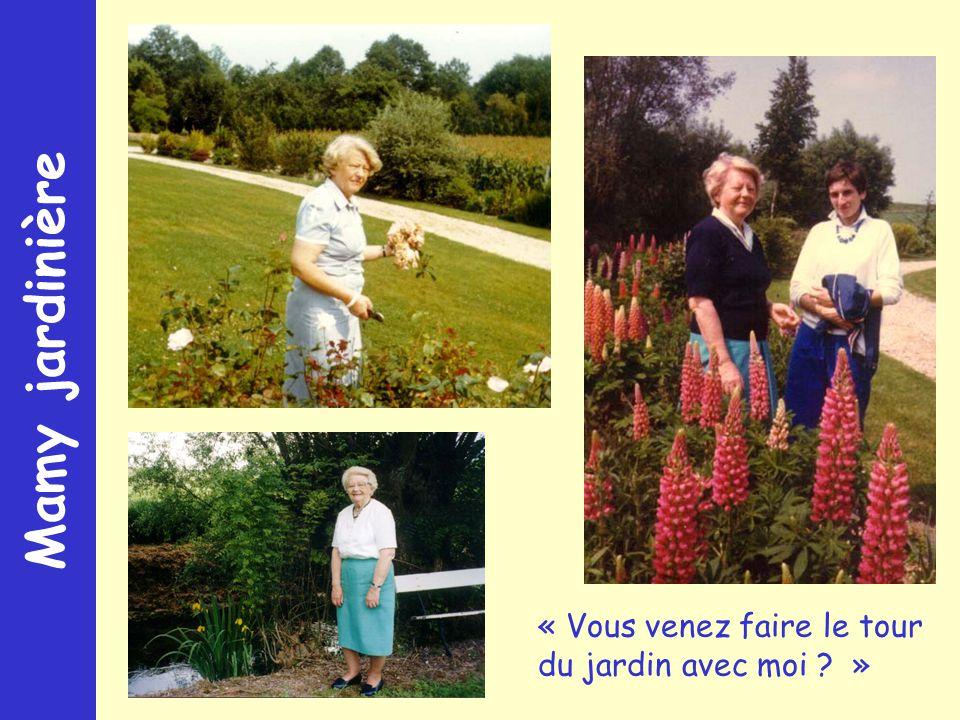 Mamy jardinière « Vous venez faire le tour du jardin avec moi »