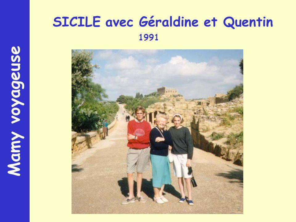 Mamy voyageuse SICILE avec Géraldine et Quentin 1991