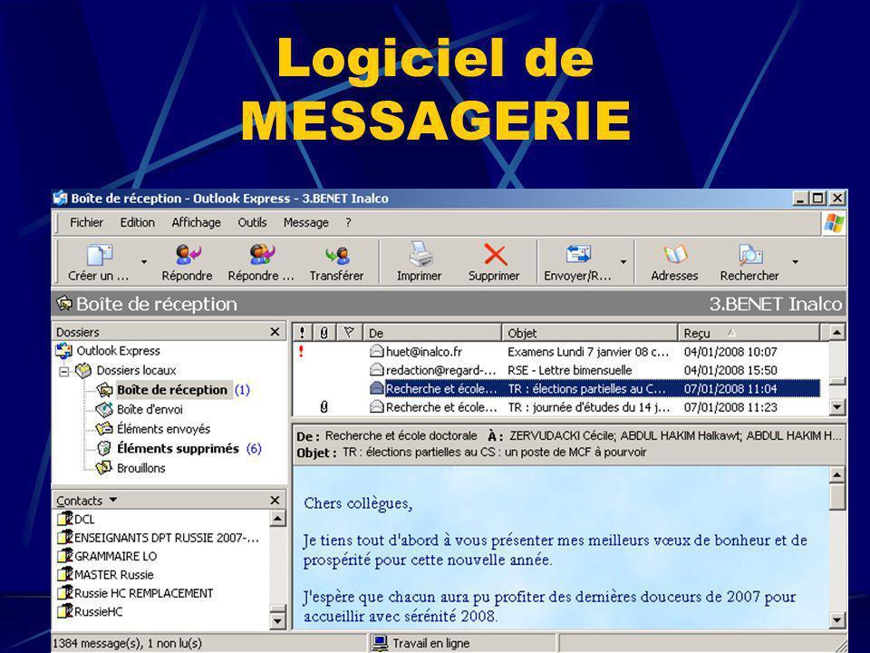 Logiciel de MESSAGERIE