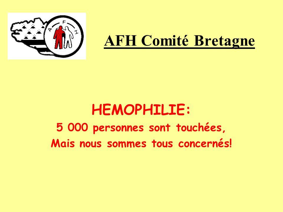 HEMOPHILIE: 5 000 personnes sont touchées, Mais nous sommes tous concernés! AFH Comité Bretagne