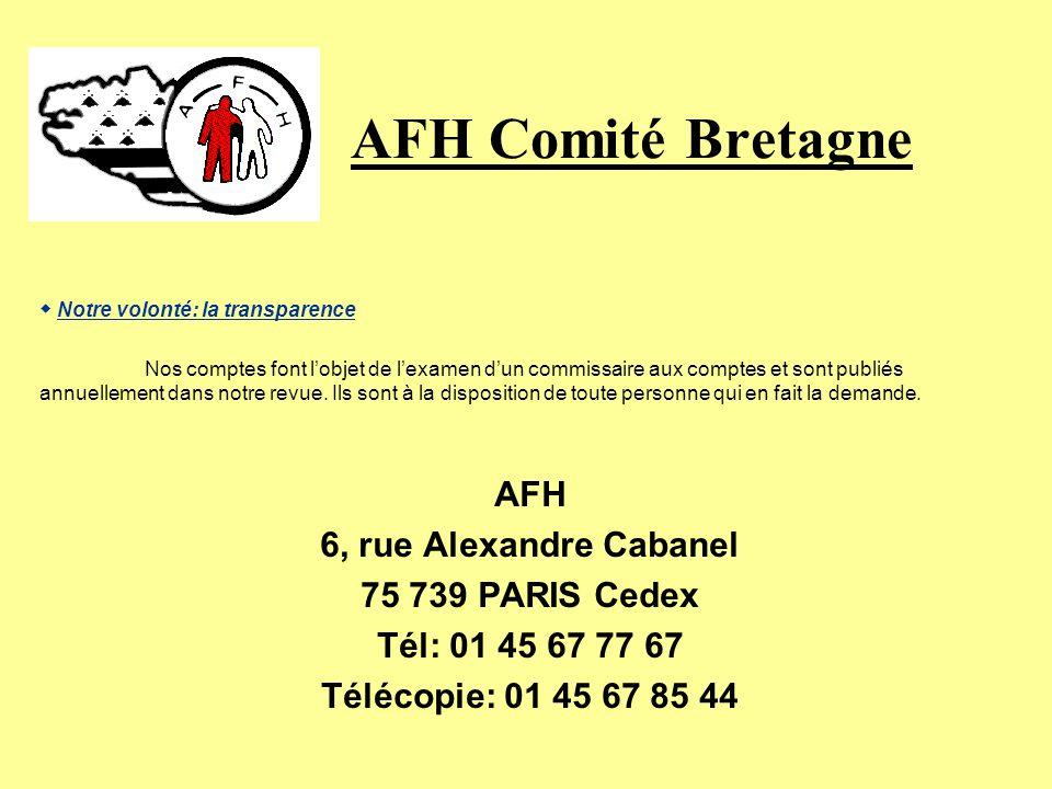 AFH Comité Bretagne Lassociation Française des Hémophiles est autorisée à recevoir, des particuliers comme des entreprises: Des donations et des legs