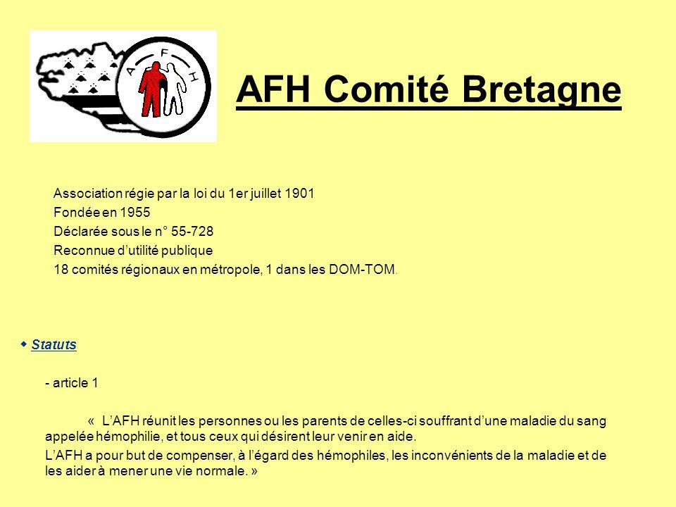 AFH Comité Bretagne Notre volonté: la transparence Nos comptes font lobjet de lexamen dun commissaire aux comptes et sont publiés annuellement dans no