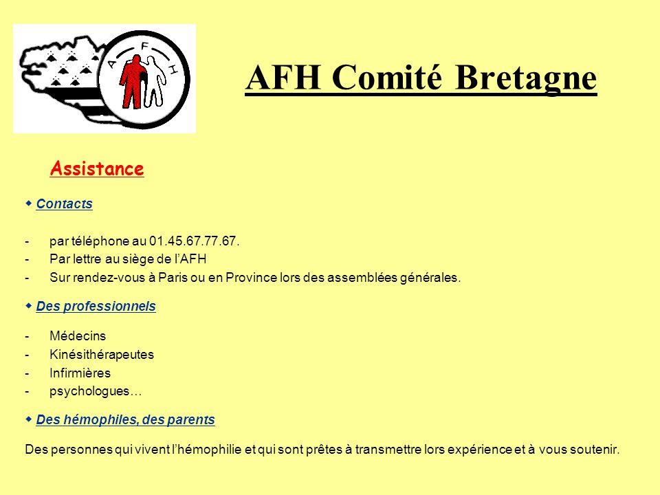 AFH Comité Bretagne Assistance « Lhémophilie pris en charge est mieux intégré dans la société » Partout en France, vous trouverez à votre écoute des i