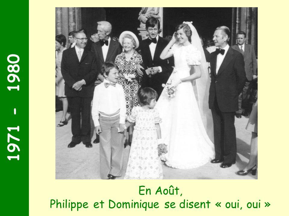 1971 - 1980 1974 : la fête bat son plein ! En juin, Victor et Catherine se jurent fidélité