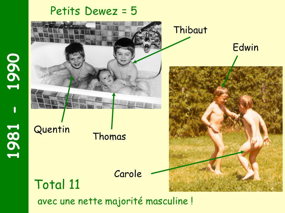 1981 - 1990 Il fallait s'y attendre … La descendance arrive en force ! Petits Pamart + petits Ferté = 6 Arnaud Stéphane Maxence Damien Aude Géraldine