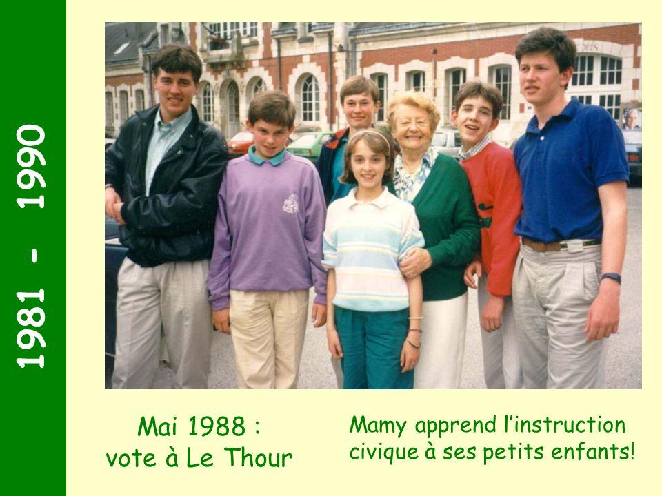1981 - 1990 Rome 1987 : cherchez qui est là ! Quel sourire illuminé ! Marie-José Anne Stéphane