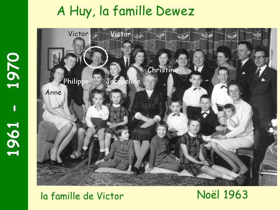 1961 - 1970 Noël 1963 A Huy, la famille Dewez Victor Anne Philippe Christine Victor Jacqueline la famille de Victor