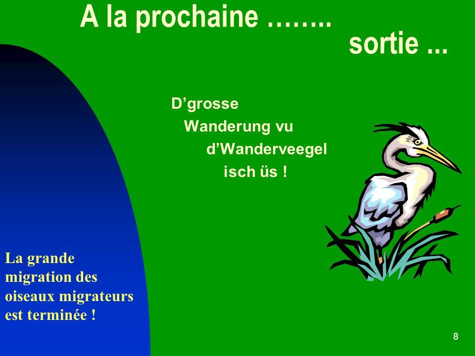 8 A la prochaine ……..sortie... Dgrosse Wanderung vu dWanderveegel isch üs .