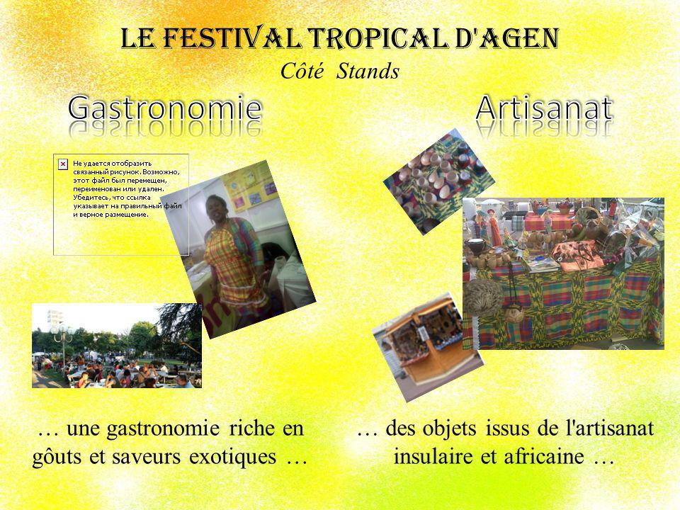 Le Festival Tropical d Agen Côté Stands … Lhumanitaire, le tourisme, la littérature, lhistoire, la peinture, … offrent une fenètre sur les destinations tropicales …