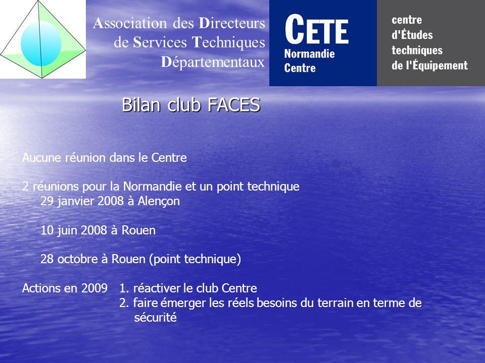 Bilan du club transport et mobilité Association des Directeurs de Services Techniques Départementaux Réunion immédiate du club le 10 janvier 2008, suite à la première CoTITA 1.
