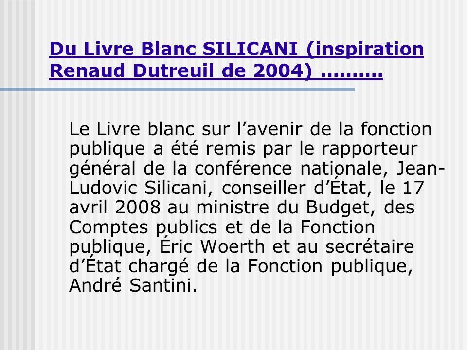 Du Livre Blanc SILICANI (inspiration Renaud Dutreuil de 2004)..........