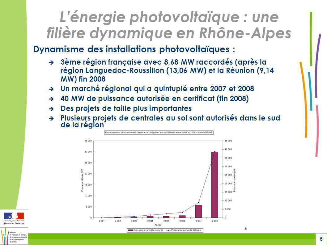 7 Lénergie photovoltaïque : Des disparités départementales