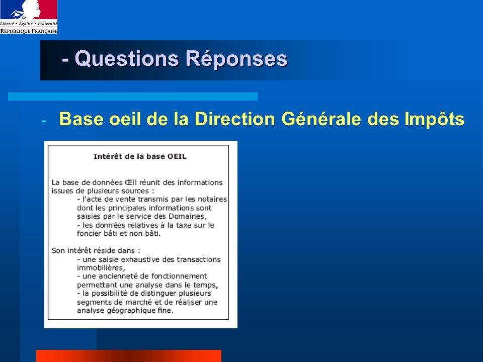 - Questions Réponses - Base oeil de la Direction Générale des Impôts