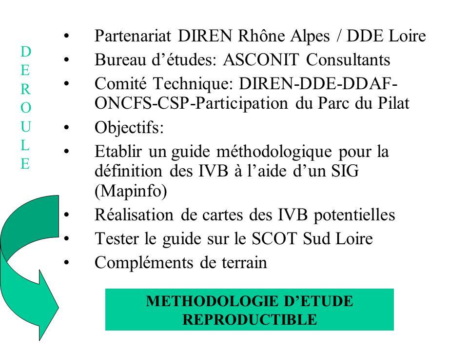 Partenariat DIREN Rhône Alpes / DDE Loire Bureau détudes: ASCONIT Consultants Comité Technique: DIREN-DDE-DDAF- ONCFS-CSP-Participation du Parc du Pil
