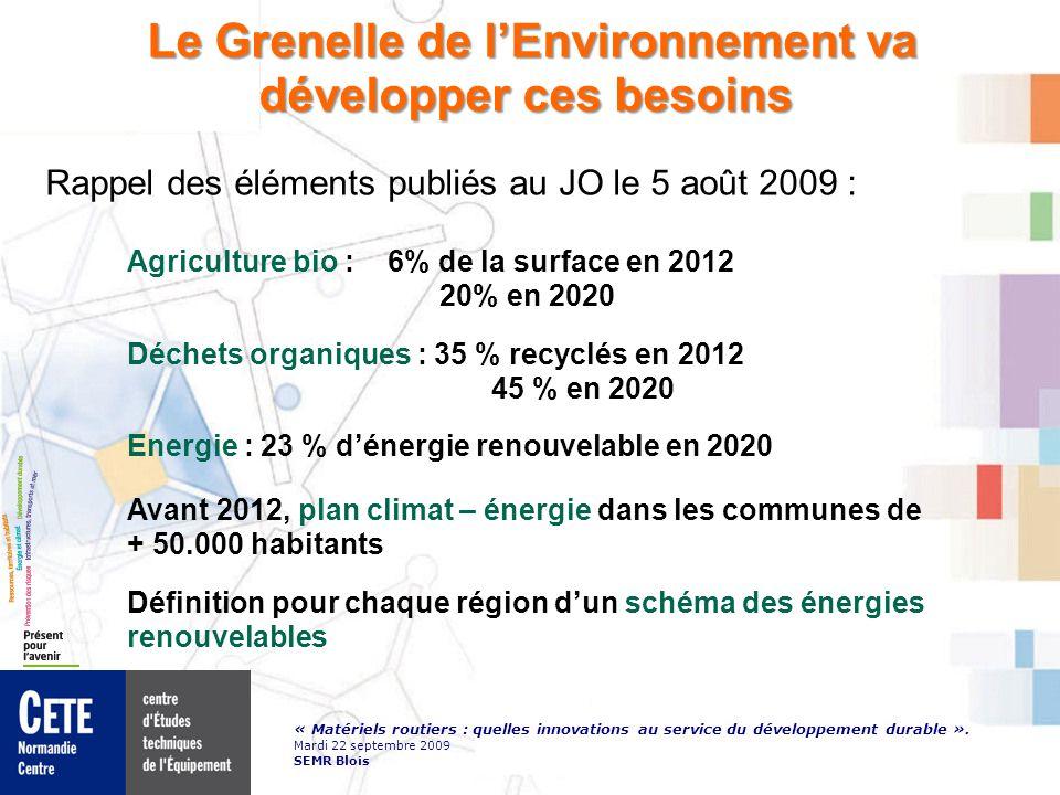 « Matériels routiers : quelles innovations au service du développement durable ».