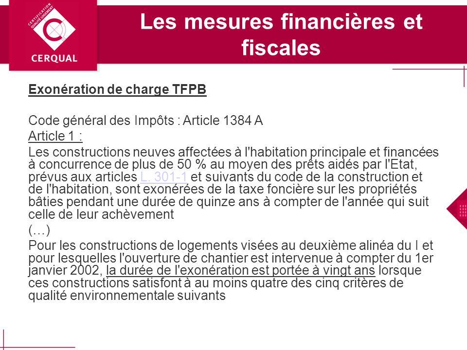 Les mesures financières et fiscales en faveur de la réduction de la consommation dénergie